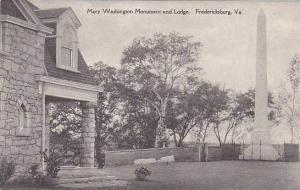 Virginia Fredericlsburg Mary Washington Monument And Lodge Albertype