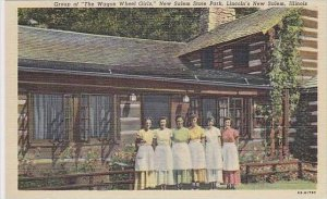 Illinois Springfield Group Of The Wagon Wheel Girls New Salem State Park Linc...