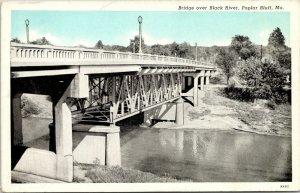 Poplar Bluff Missouri~Bridge over Black River on Pine Street~1939 Bluesky PC