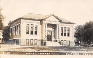 Clarinda Iowa~Public Library~Houses~Museum Now~1910 Real Photo Postcard~RPPC