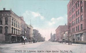 ERIE, Pennsylvania, PU-1908; State St. Looking North From Ninth St.