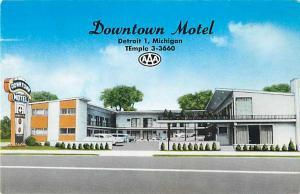 Downtown Motel Detroit Michigan MI 3550 Woodward Avenue
