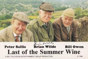 Brian Wilde Last Of The Summer Wine Hand Signed Cast Card Photo