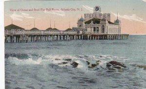 New Jersey Atlantic City View Of Ocean And Steel Pier Ball Room 1914