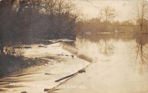 Anderson Indiana~Moss Island Dam~Madison County~Houses bknd~1911 RPPC-Postcard