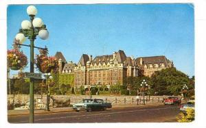 Flower Baskets and Empress Hotel, Victoria, B.C. Canada,PU-1964