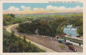 New York Elmira View From Mounyain Top 1948 Curteich