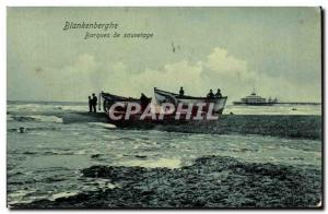 Old Postcard Blankenberghe Rescue Boats