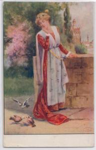 Woman & Pigeons