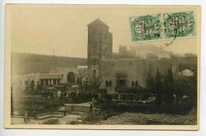 French Moroco  Street View Natives RPPC Postcard
