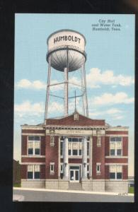 HUMBOLDT TENNESSEE CITY HALL WATER TOWER VINTAGE POSTCARD TENN.
