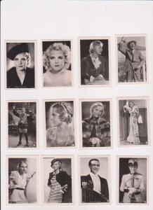 FILM CINÉMA MOVIE 100 Vintage ROSS Real Photo CIGARETTE Cards 1930's