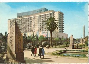 Egypt, Cairo, Nile Hilton Hotel, 1960s unused Postcard