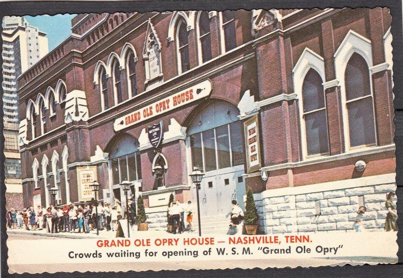 P1765  vintage grand ole opry crowds waiting opening nashville tenn