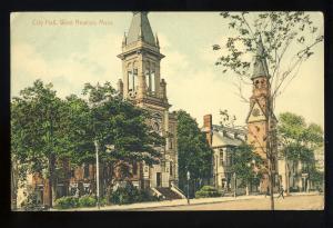 West Newton, Massachusetts/MA/Mass Postcard, City Hall, 1912!