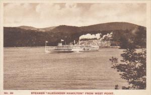 Hudson River Day Line Steamer Alexander Hamilton From West Point Albertype