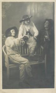 Photo postcard music fiddlers gipsies gypsy Hungary