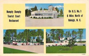 Raleigh NC Humpty Dumpty Sat on A Wall~Tourist Court Restaurant~1950s