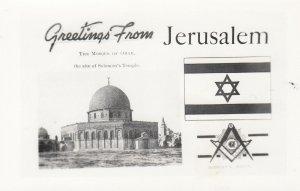 RP: JERUSALEM , ISRAEL , 1940s ; Flag & Mosque of Omar