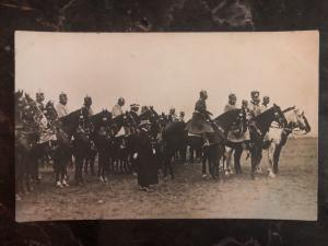 Mint Germany RPPC Postcard WW1 Kaiser Wilhelm II With Army Troops on Horseback