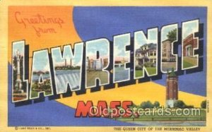 Lawrence, Mass, USA Large Letter Town Unused