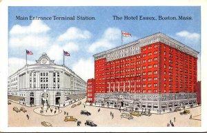 Massachusetts Boston Hotel Essex and Terminal Station Main Entrance