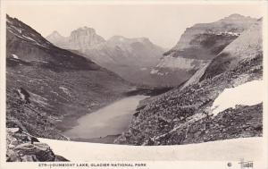 Gunsight Lake Glacier National Park Alaska Real Photo