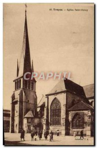 Postcard Old Troyes Eglise Saint Remy
