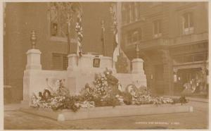 Norwich War Memorial Norfolk RPC Real Photo Military Postcard