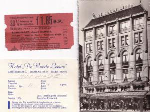Amsterdam Niederlande Hotel de Roode Leeuw Real Photo Old Postcard & Ephemera