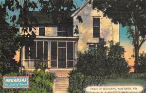 Van Buren Arkansas~Home Of Bob Burns~1940 Postcard