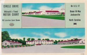 North Carolina Jacksonville Circle Drive Motor Court