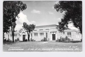 RPPC REAL PHOTO POSTCARD MISSOURI WARRENSBURG C.M.S.C. COLLEGE MORROW GYMNASIUM