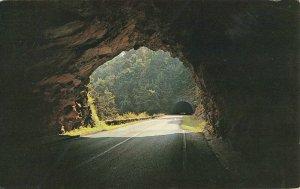 Postcard Twin Tunnels On Blue Ridge Parkway North Carolina Posted 1965