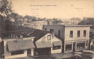 Camden Maine~The Smiling Cow Diner~Power Company~Aker's Market~1940s Cars~Sepia