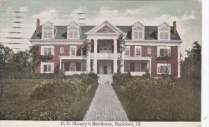 Illinois Rockford F G Shoudy's Residence 1909