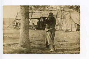 New Windsor CO Indian Bark House Shooting RPPC Postcard