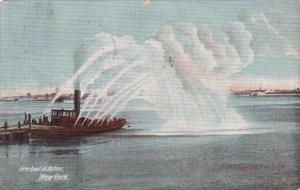 Fore Boat In Action New York 1910