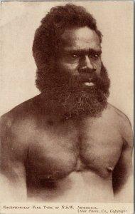 Man 'Exceptionally Fine Type of NSW Aboriginal' Australia Unused Postcard E71