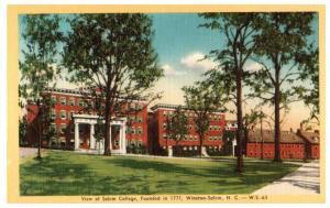 Mid-1900s Salem College (founded 1771), Winston-Salem, NC Postcard