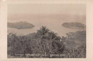 St George Genada BWI Entrance to Harbour Real Photo Antique Postcard J69633