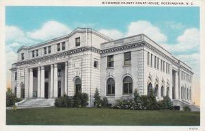ROCKINGHAM , North Carolina , 10-20s; Court House