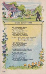 Music Song Card Home Sweet Home 1911