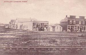 DUNDURN , Saskatchewan , 1912 ; Storefronts , Looking West along Railroad tracks