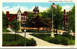 Ohio Mount Vernon Public Square Curteich