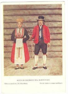 AS, Man & Woman, Brud Og Brudgom Fra Hardanger, Norsk Folkemuseum Samlinger, ...