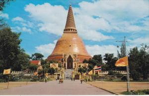 NAKORNPATHOM, Thailand, 1940-1960's; The Pagoda of Wad Phrapathomjedee