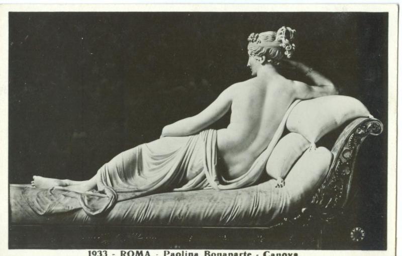 Roma, Paolina Bonaparte, Canova, 1933 unused real photo
