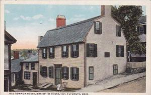 Massachusetts Plymouth Old Common House Site Of 1st House