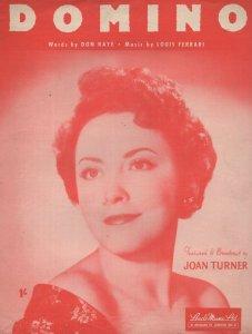 Domino Joan Turner 1950s Sheet Music